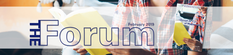 The Forum magazine banner Feb 2019