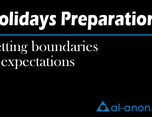 Holidays Preparations – Setting boundaries & expectations