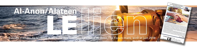 Extraits de la revue mensuelle des Groupes Familiaux Al-Anon The Forum mars, avril et juin 2019